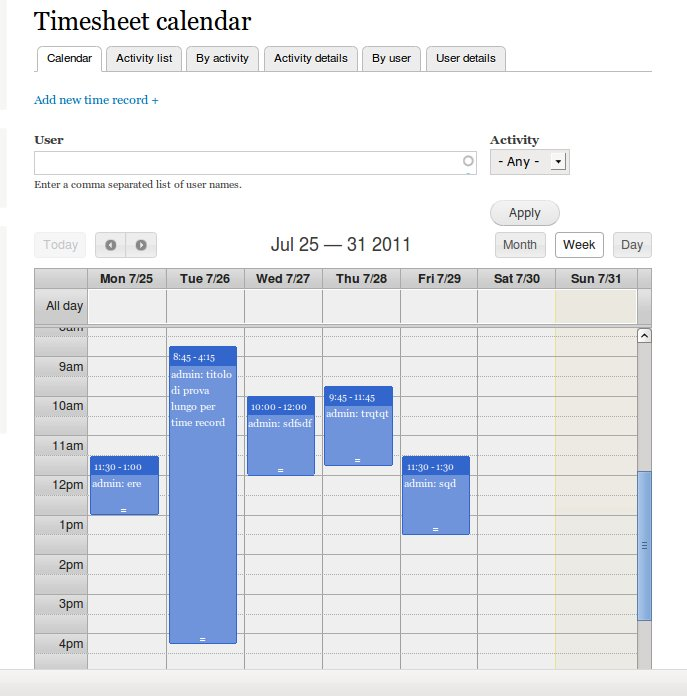 Simple Timesheet | Drupal.org