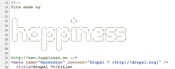HTML HEAD Comment | Drupal org