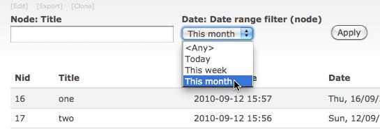 Views Date Range Filter
