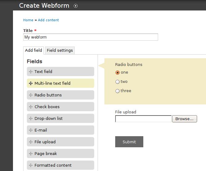 Webform Alternate UI