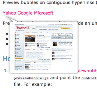 WebSnapr Preview Bubble