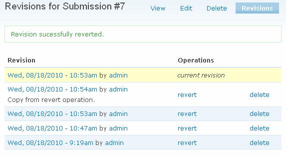 Webform Revisions