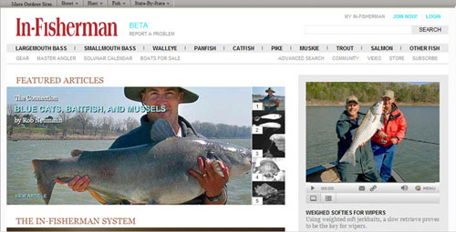 in-fisherman.com home page