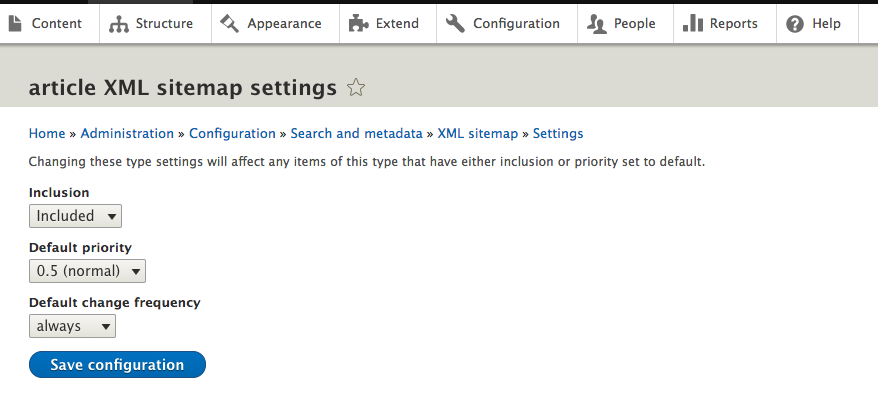 installing and configuring xml sitemap drupal org