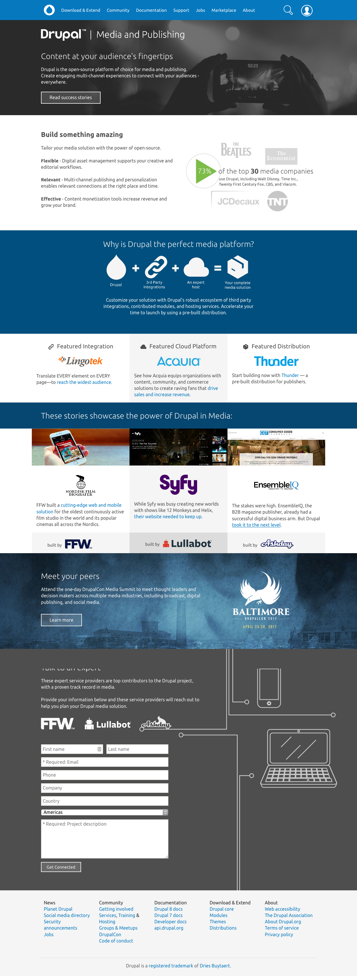 Drupal.org Industry Pages Are Live!