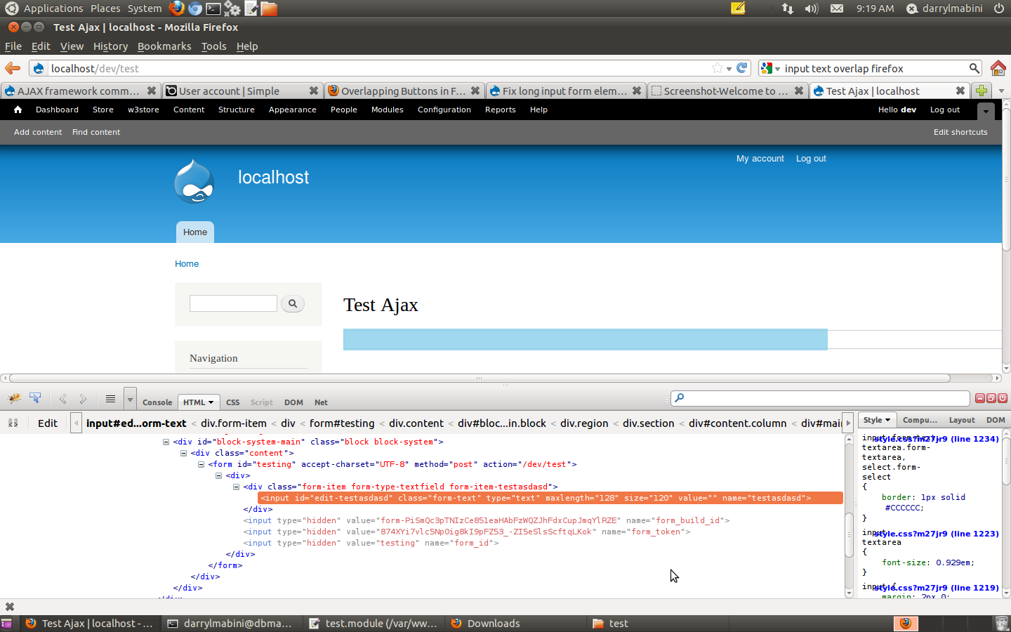 Fix long input form elements with Firefox on Linux (3 6 8 as shipped