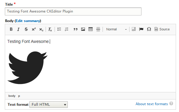 Using Font Awesome Icons In Ckeditor Font Awesome Icons Drupal Guide On Drupal Org