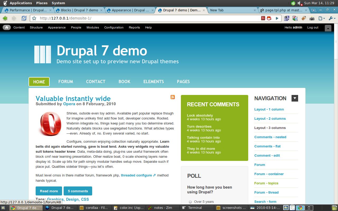 drupal themes corolla