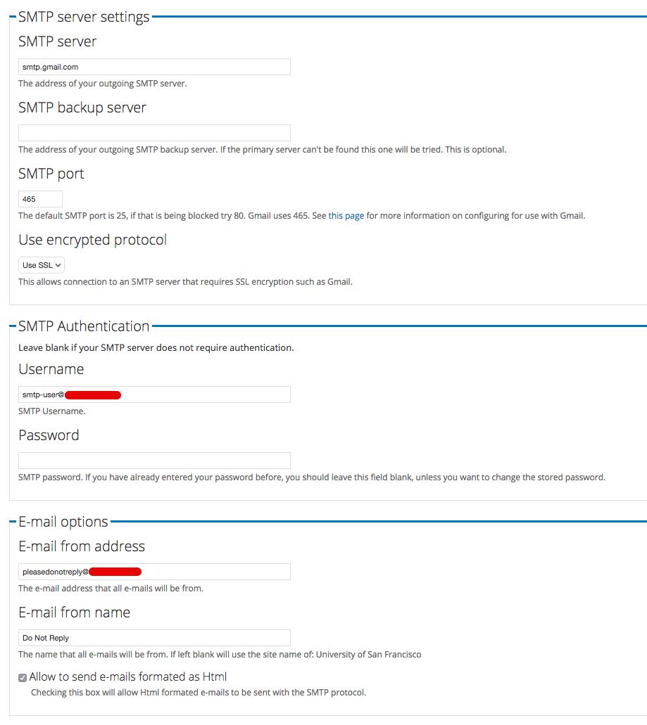 Drupal SMTP Authentication Support