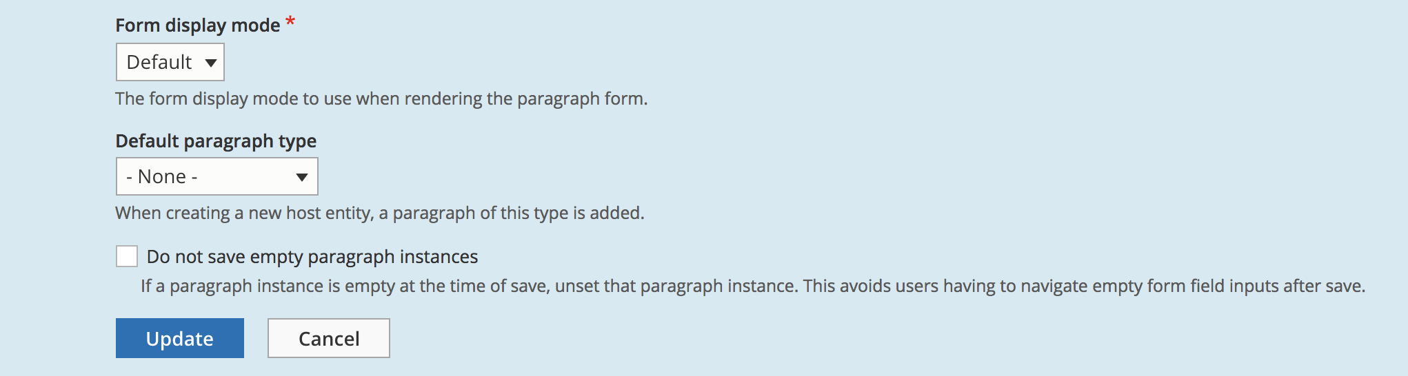 Skip saving empty paragraphs for certain types [#2877695
