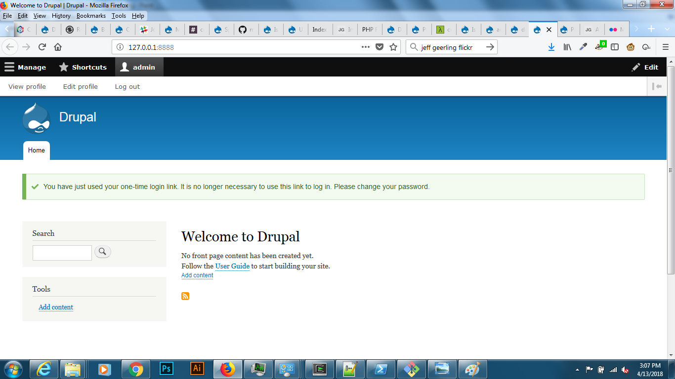 Provide a single command to install & run Drupal [#2911319