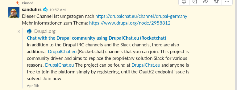 Promote Rocket Chat instance as an alternative to Slack