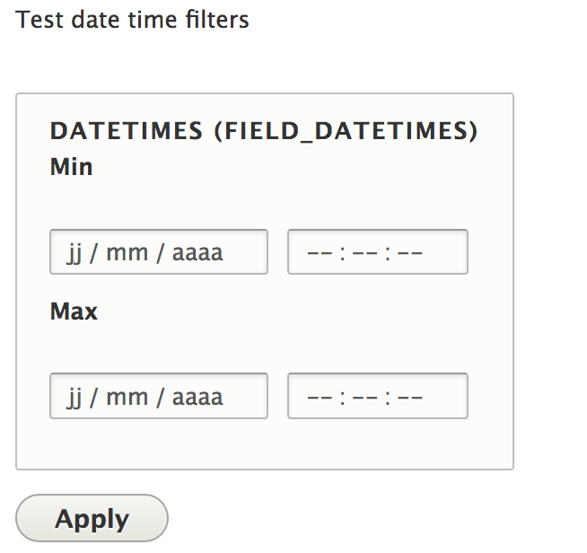 Use form element of type date instead textfield when