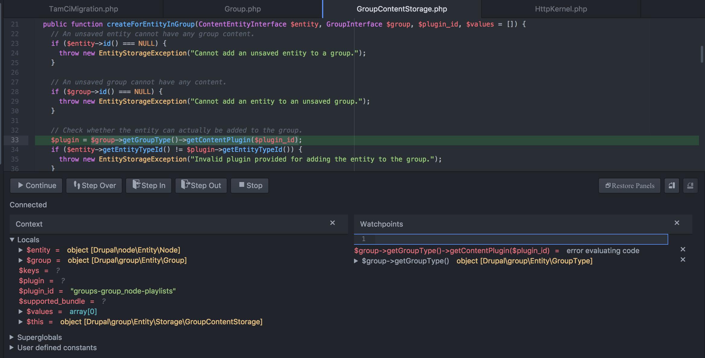 Programmatically add newly created node to a group? [#2772623