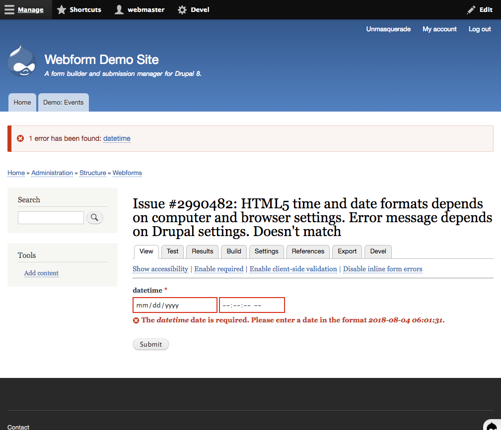 HTML5 time and date formats depends on computer and browser