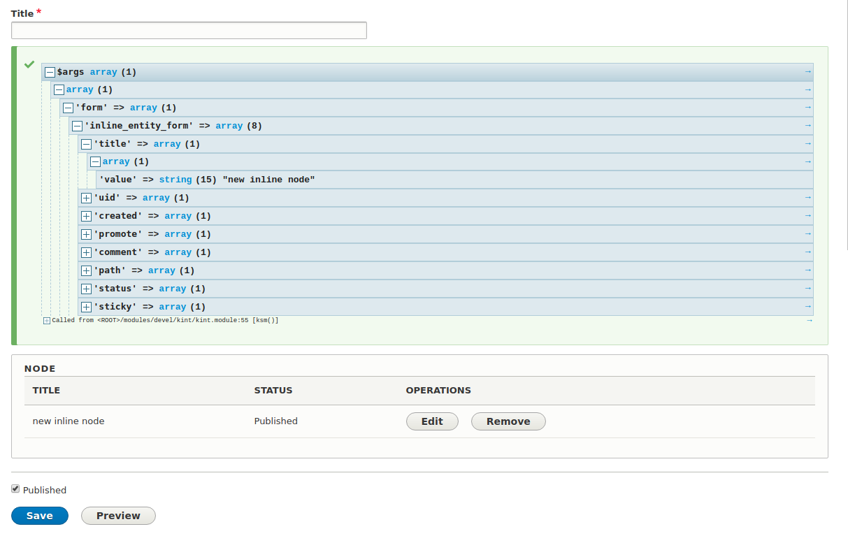 Get field values from inline entity form upon creating a new