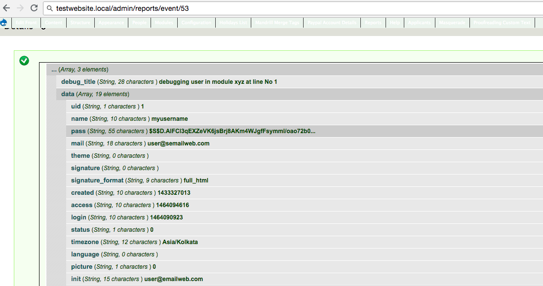 Function to pretty-print variables to watchdog / dblog