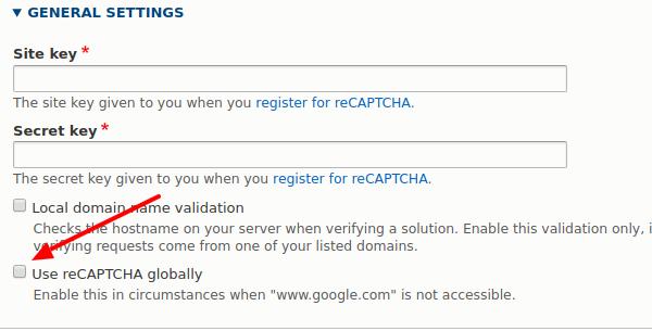 Add an option to use reCAPTCHA globally (i e  China) [#2993365