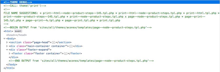 Print template file not being used 3004218 drupal 2ter updateg maxwellsz