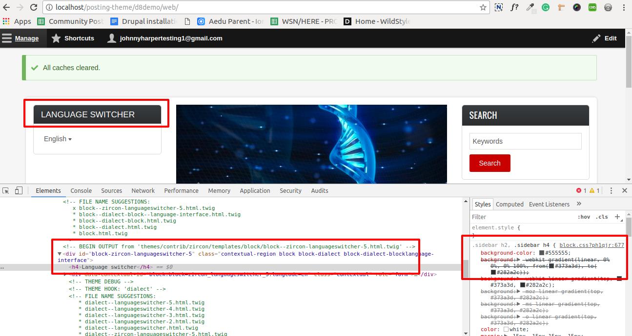 change html tag in sidebar [#2851108]   Drupal org
