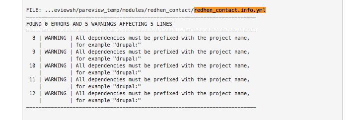 Must add prefix to dependencies [#3015726] | Drupal org