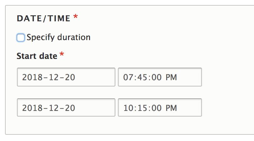 Provide a datetime_range widget to define end time via a duration