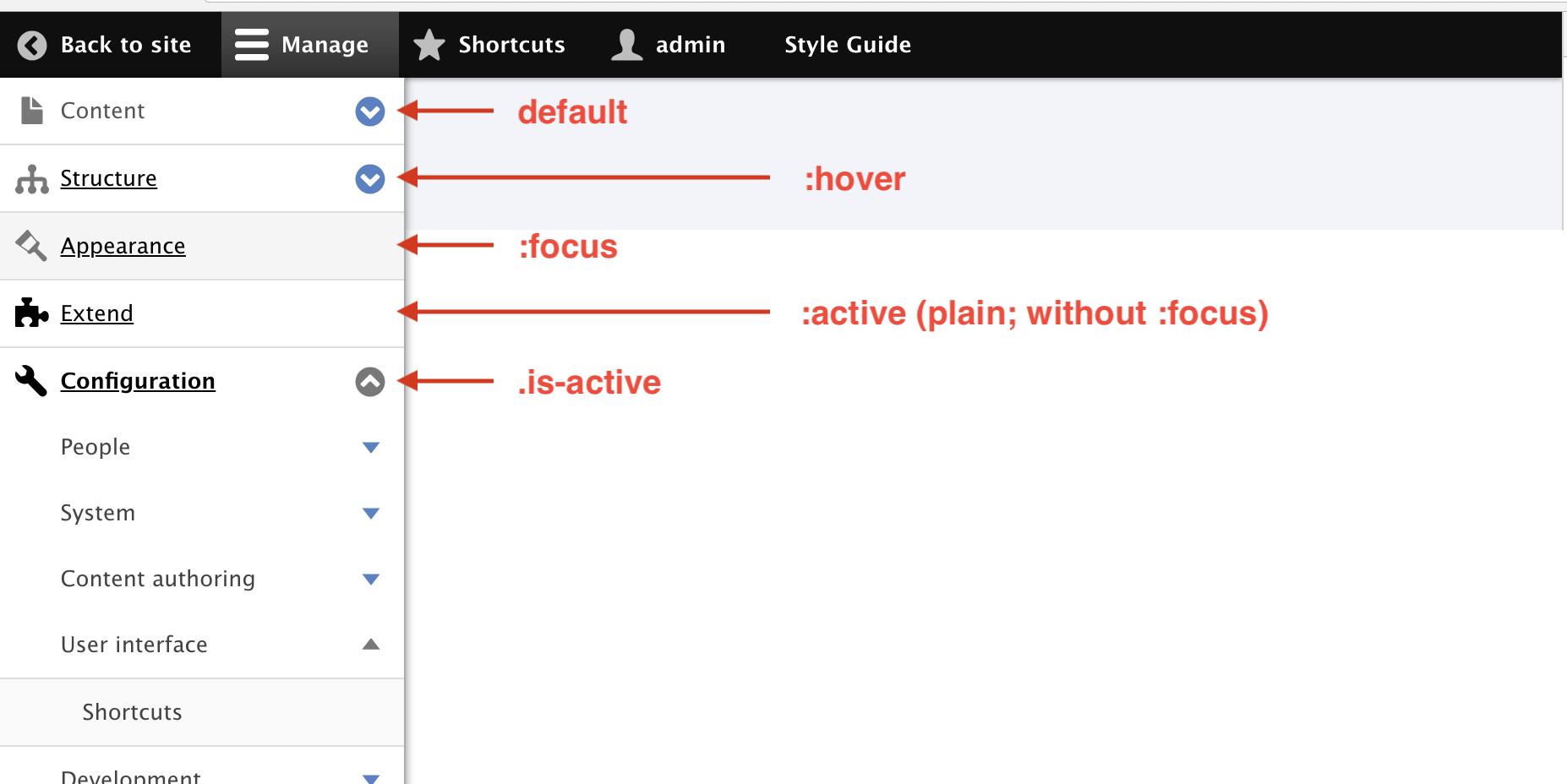Toolbar style update [#3020422] | Drupal org