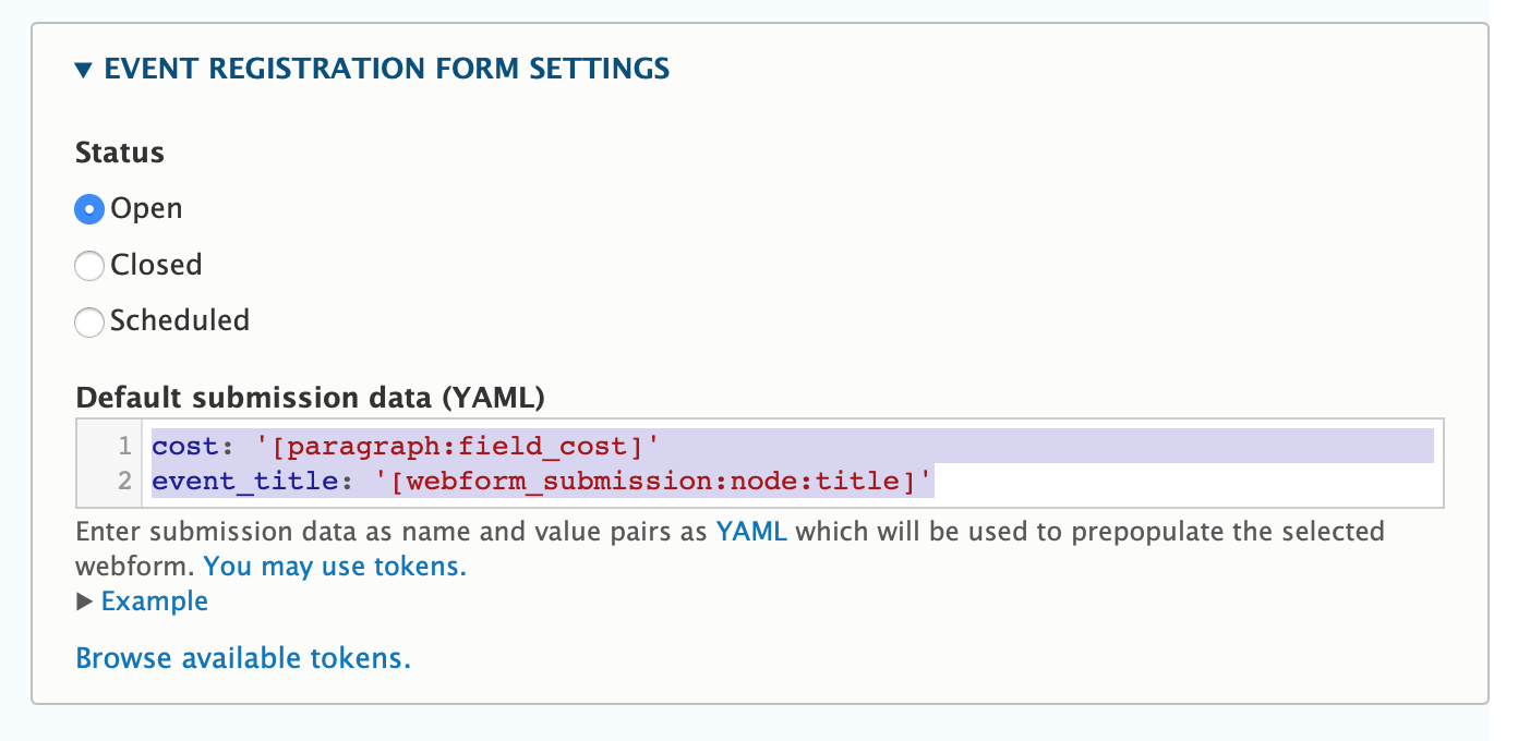 Webform as a field in a paragraph cannot access current page