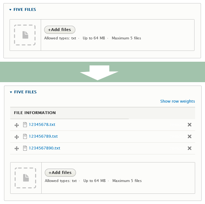 File Field design update: Upload field  [#2113931] | Drupal org