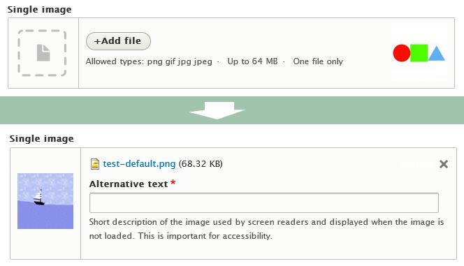File Field design update: Upload field  [#2113931] | Drupal org