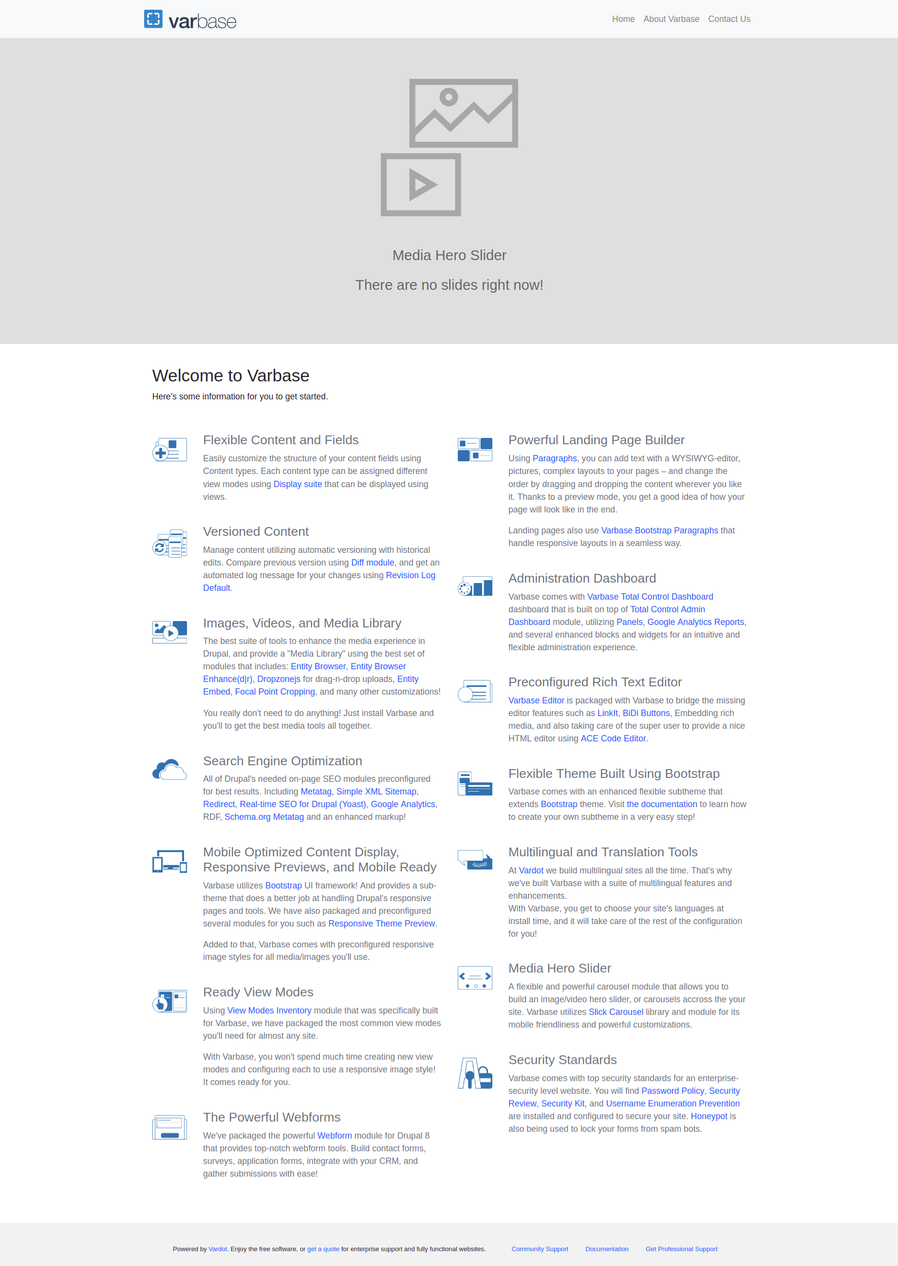 Varbase Theme (Bootstrap 4 - SASS) | Drupal org