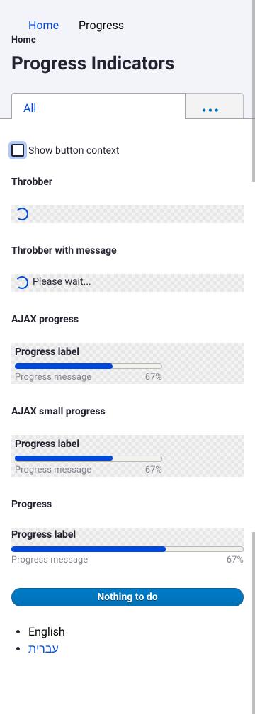 Progress bar style updates [#3023304]   Drupal org