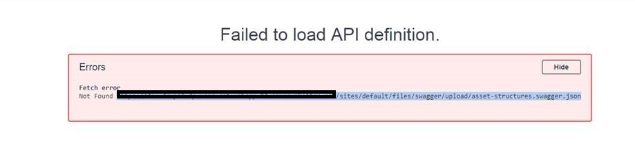 JSON file read error - The resource you are looking for has been