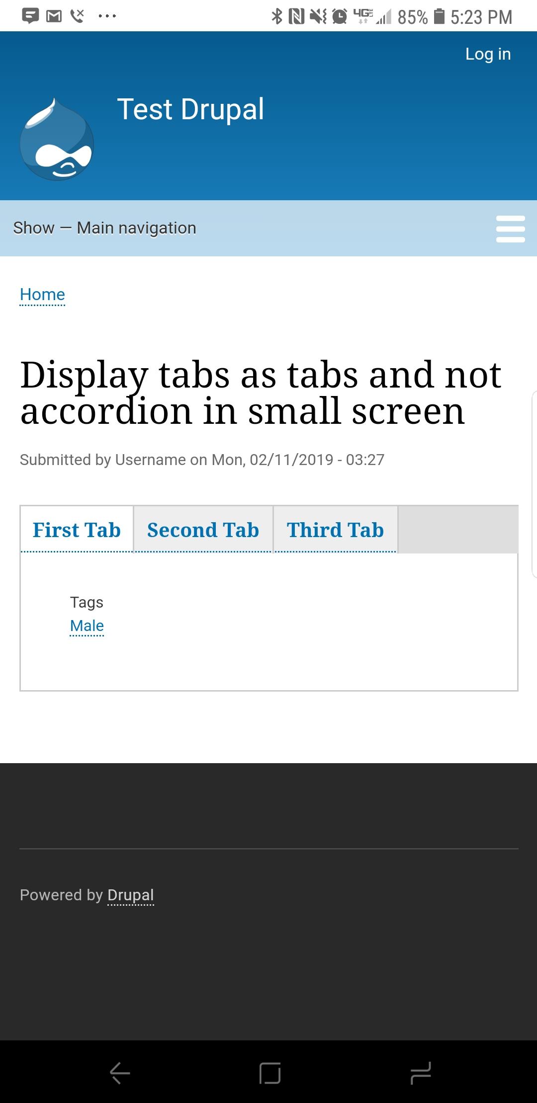 Make responsiveness for vertical/horizontal tabs