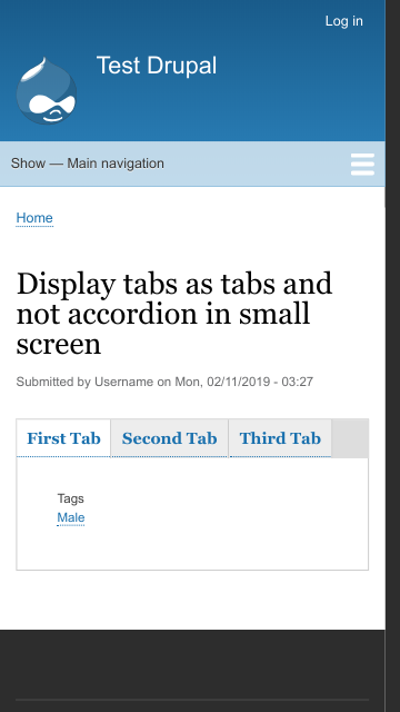 Make responsiveness for vertical/horizontal tabs configurable