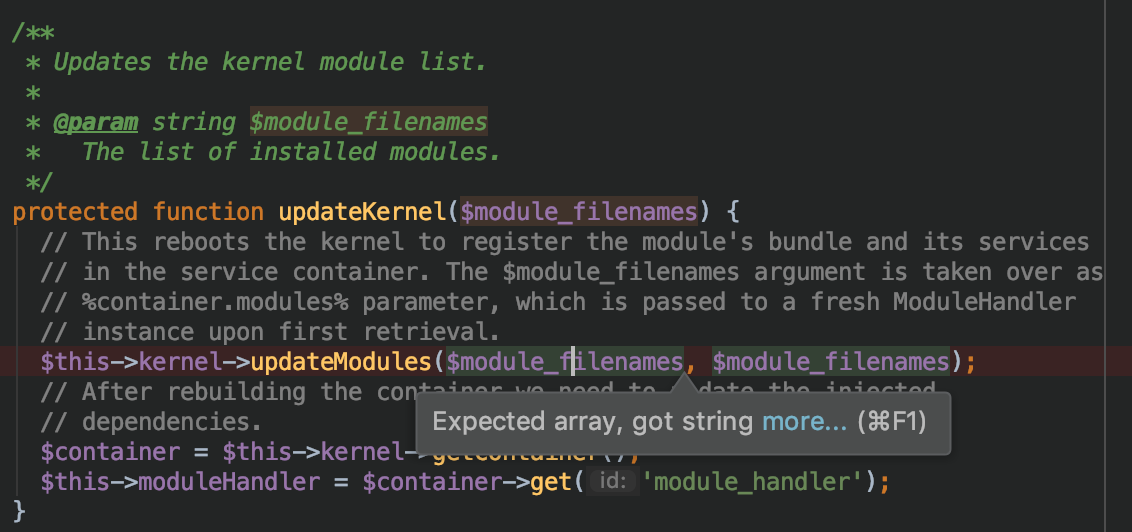 Add/remove event listeners provided by a module on module install