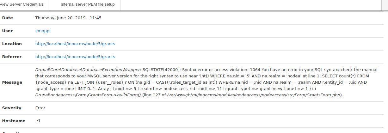 Syntax Error on SQL Queries [#3033703]   Drupal org