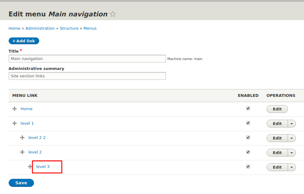 Menu navigation change does not affect node path [#3068943