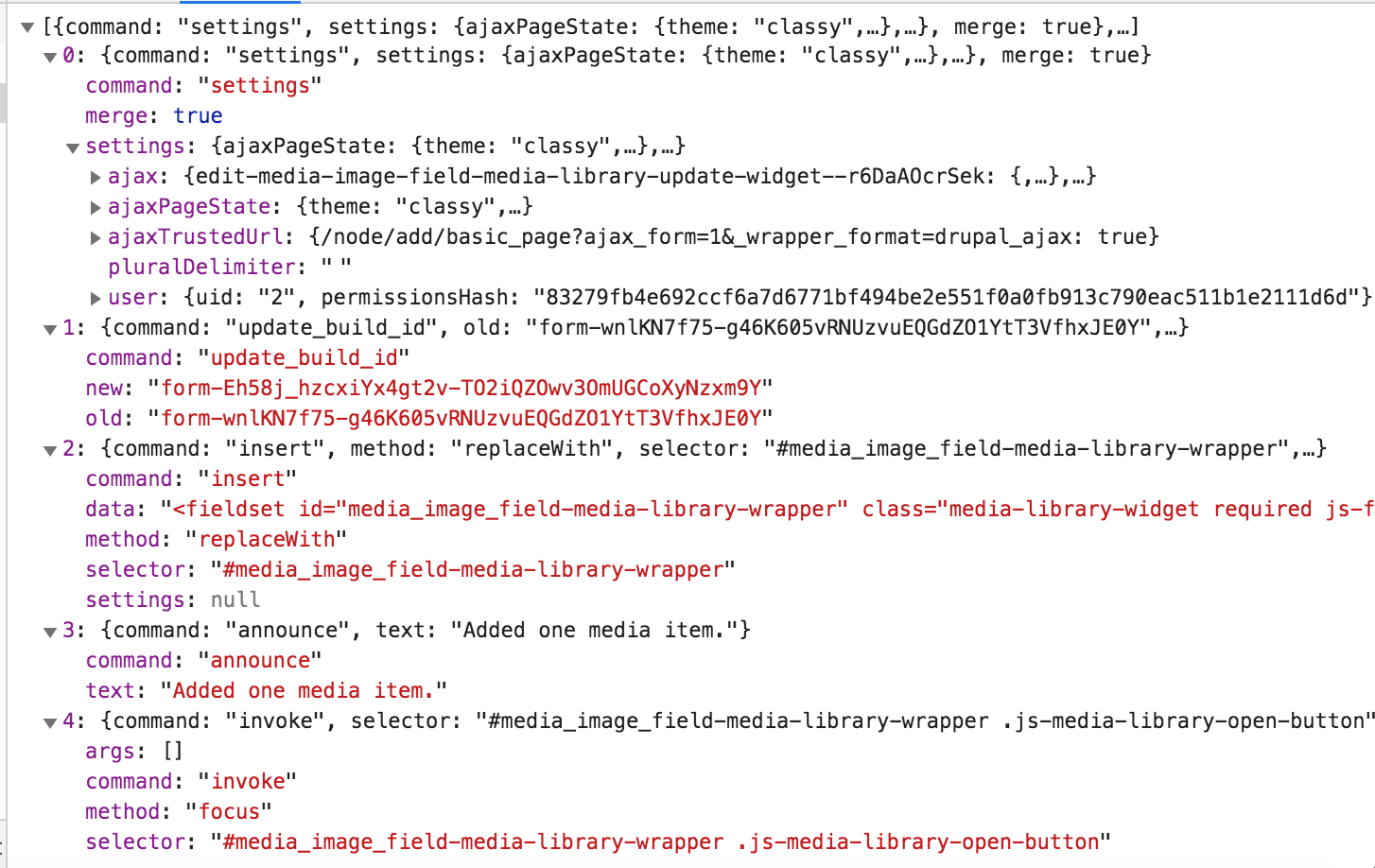 Media library causes validation errors when it is used in a