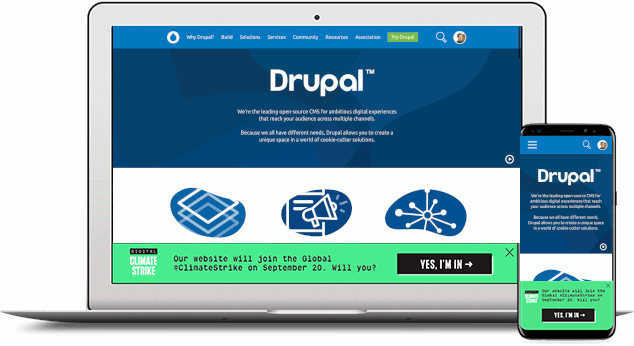 Add Global Climate Strike Banner To Drupal Org For A Couple Days 3079557 Drupal Org