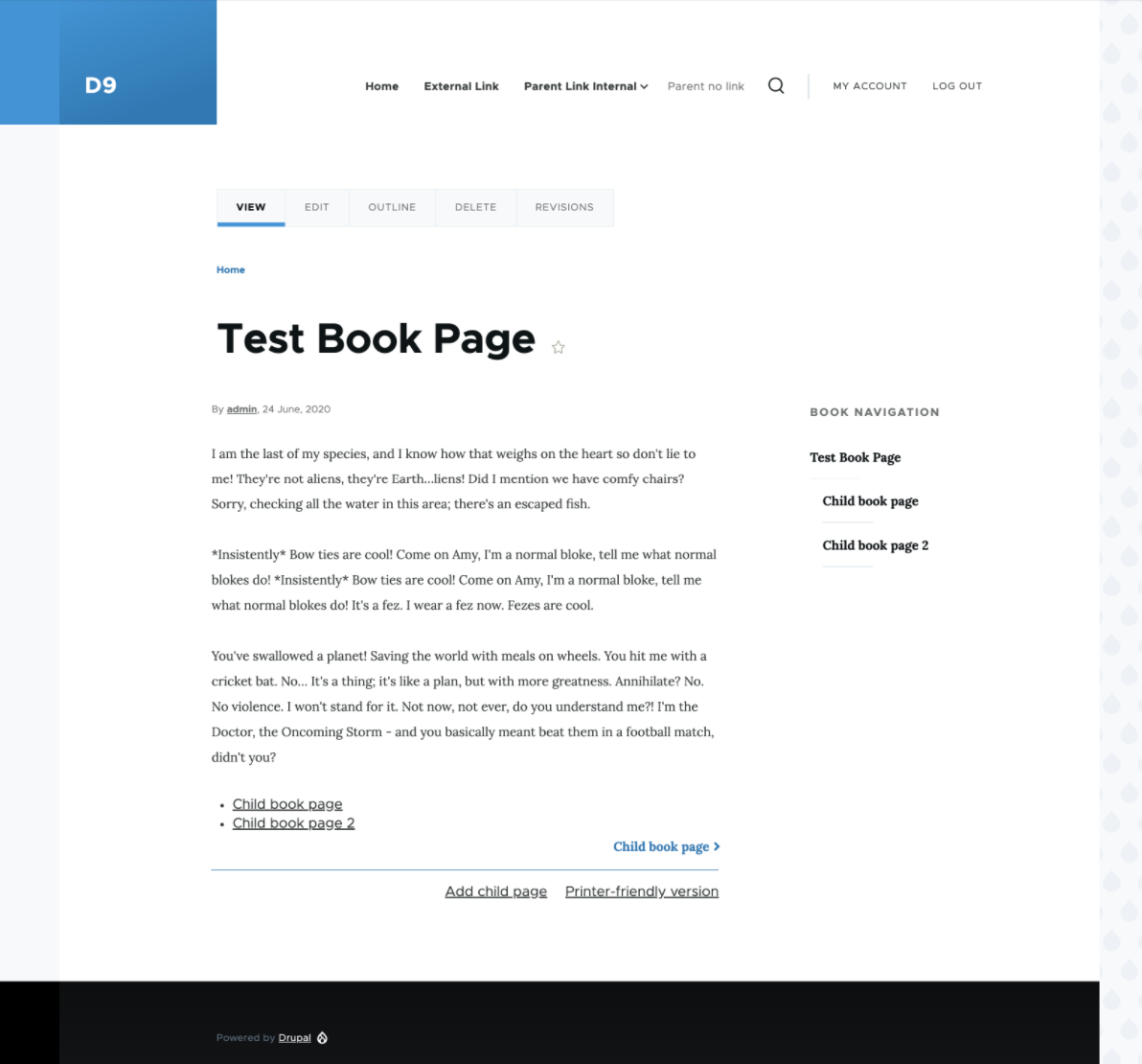 Theme Book Module Pages And Menu 3153061 Drupal Org