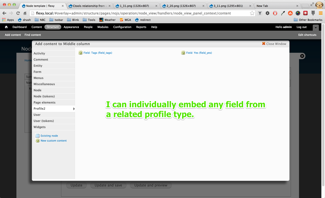 embedding individual fields