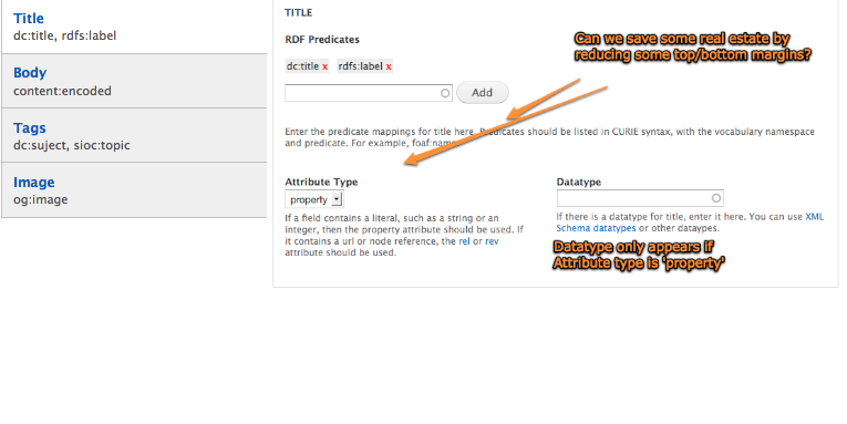 Clean up the RDF UI field form [#835350] | Drupal org