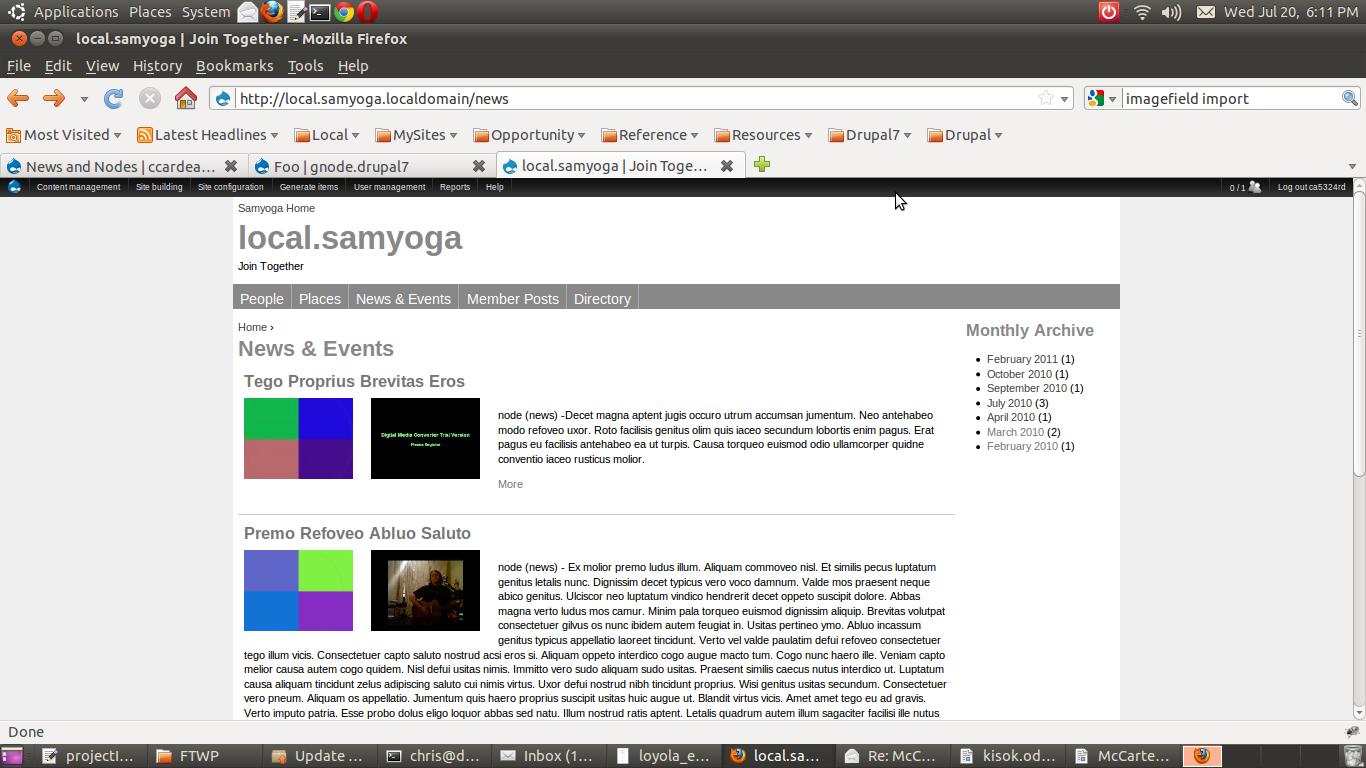 Simple Node Archive [#1222472]   Drupal org