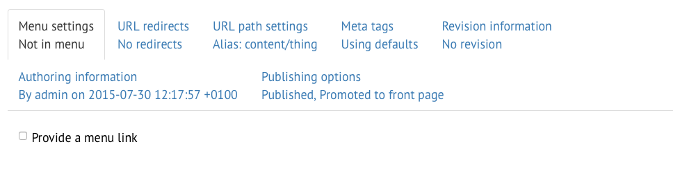 Vertical tabs don't seem to be working? [#2558167]   Drupal org