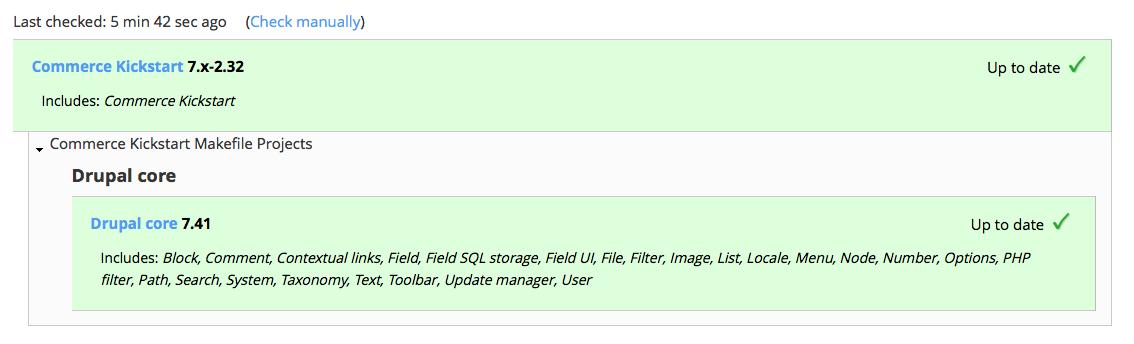 Commerce Kickstart 7 x-2 NN Not supported update message [#2650634