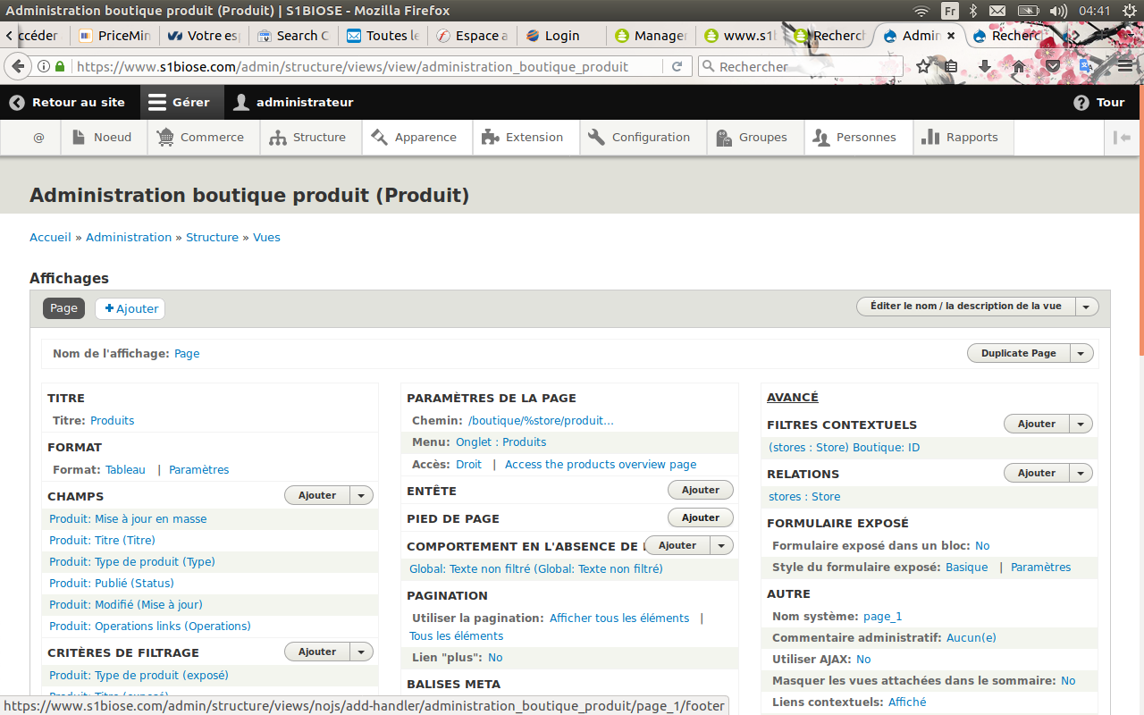 Add store/ID/edit, store/ID/products, user/ID/stores views