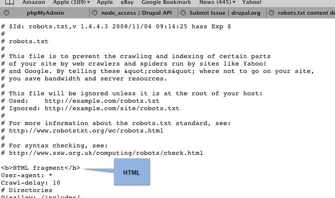 robots.txt content doesn't need to be passed to check_plain ...