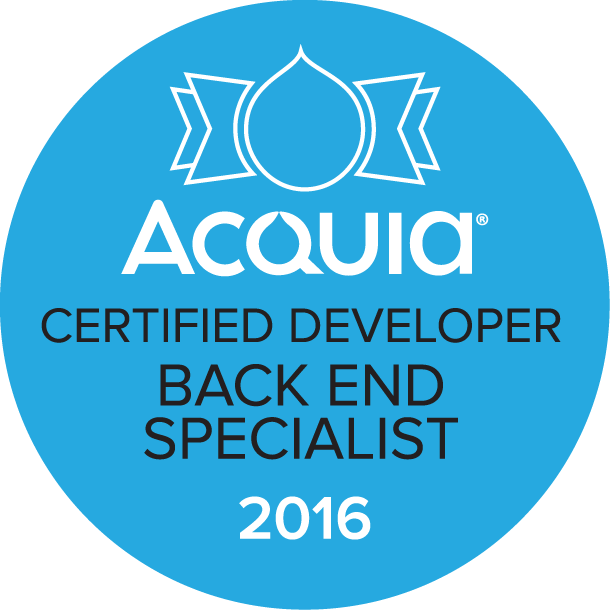 Acquia Certified Developer - Back End Specialist 2016