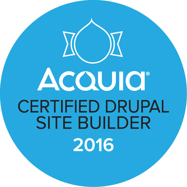 Acquia Certified Site Builder 2016